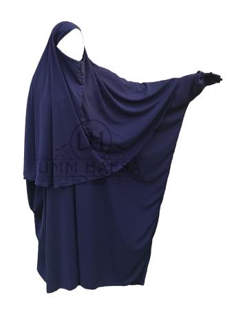 Hijab Cape Umm Hafsa BLEU NUIT