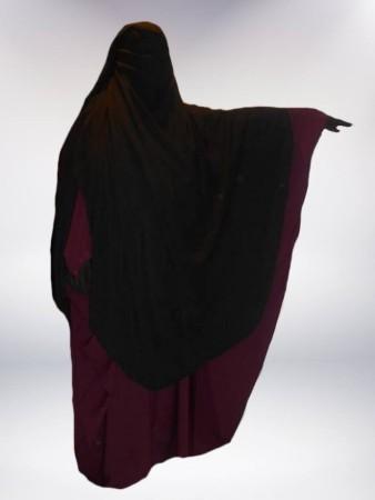 Niqab Sitar Cape 1m60 NOIR