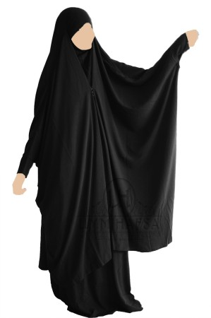 Jilbab 2 pièces à clips TISSU NIDHA