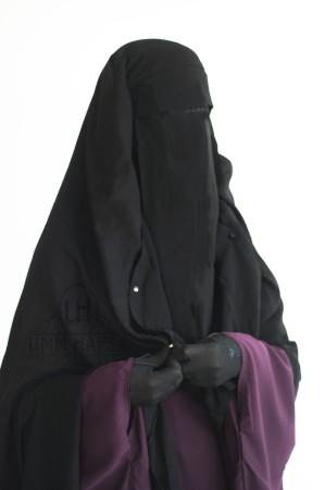 """Jilbab Saoudien """"Umm Hafsa"""" NOIR"""