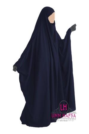 "Jilbab Saoudien ""Umm Hafsa"" BLEU NUIT"