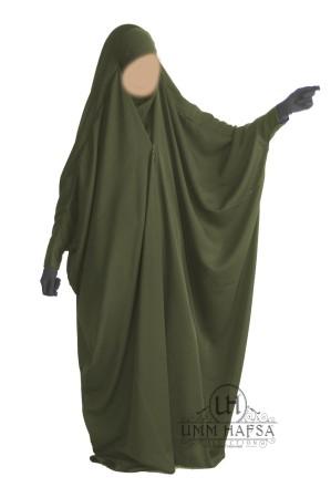 """Jilbab Saoudien NOIR """"Umm Hafsa"""" à clips CAVIARY LUXE"""
