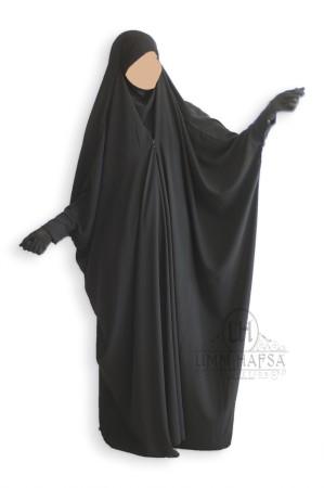 Jilbab saoudien Umm Hafsa à clips NOIR