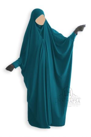 Jilbab saoudien Umm Hafsa à clips VERT CANARD