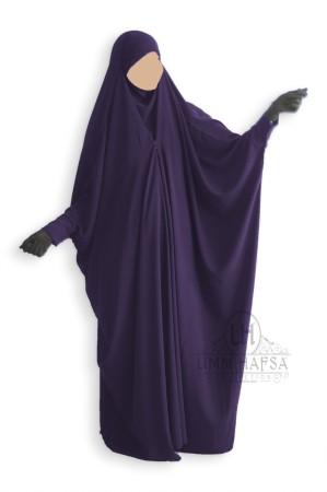 Jilbab saoudien Umm Hafsa à clips AUBERGINE