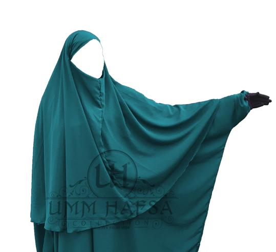 Hijab Cape Umm Hafsa VERT CANARD