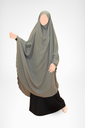 Long Khimar Caviary manches lycra