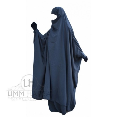 "Jilbab à ZIP ""Umm Hafsa"" GRIS"