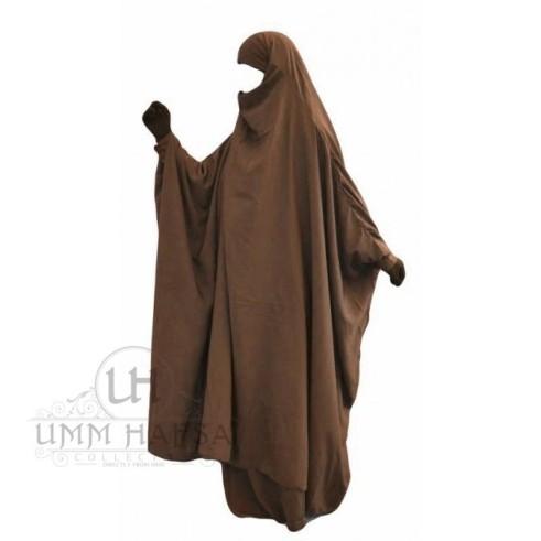 """Jilbab à ZIP """"Umm Hafsa"""" NOIR"""