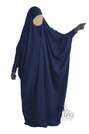 """Jilbab Saoudien BLEU """"Umm Hafsa"""" à clips CAVIARY LUXE"""