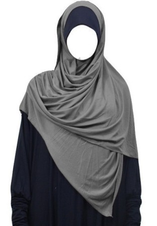 Maxi-Hijab Stretch GRIS SOURIS
