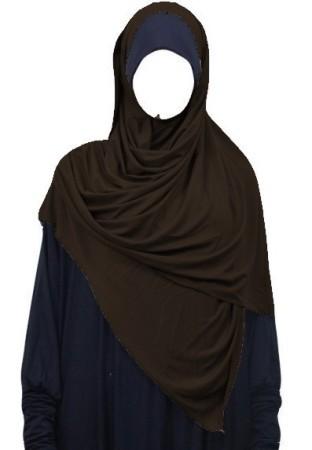 Maxi-Hijab Stretch MARRON
