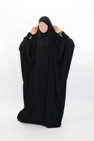 Jilbab Saoudien NIDHA poignets lycra NOIR