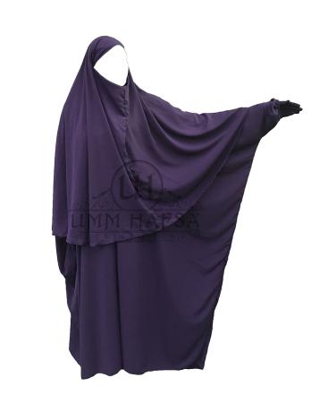 Abaya + Hijab-Cape Umm Hafsa BORDEAUX