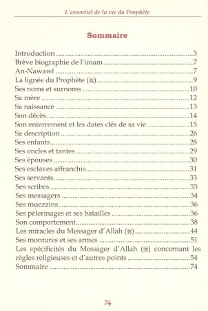 L'Essentiel de la Vie du Prophète - Imam An-Nawawi
