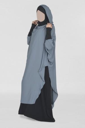 Tunique Young : Hijab et capuche intégrés GRIS