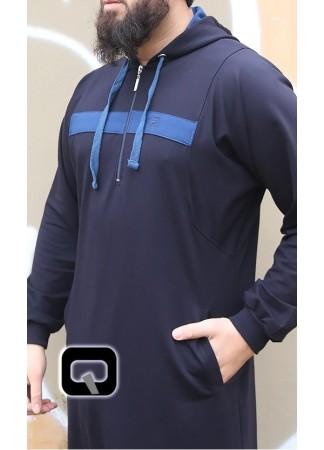 Qamis Jogging Vortex Qaba'il Bleu Nuit