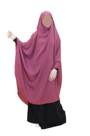 Long Khimar mini-poignets lycra