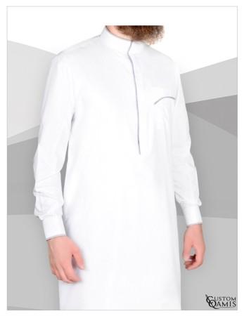 Qamis Edge Précious Custom Qamis Blanc