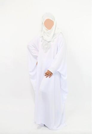 Abaya sultana BLANC