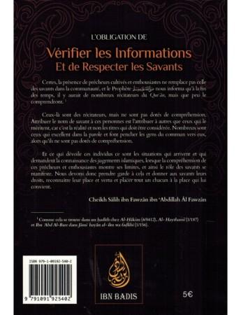 obligation de Vérifier les Informations Et de Respecter les Savants - Sheikh al Fawzan