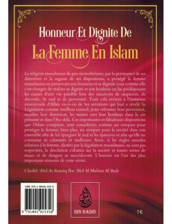 Honneur Et Dignité  De La Femme En Islam - Sheikh abderRazzak al 'abbad