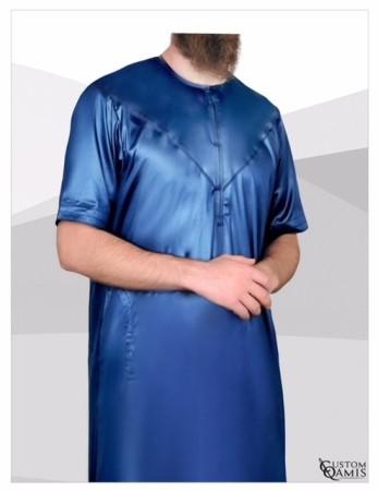 Qamis Emirati Custom Qamis Bleu Nuit