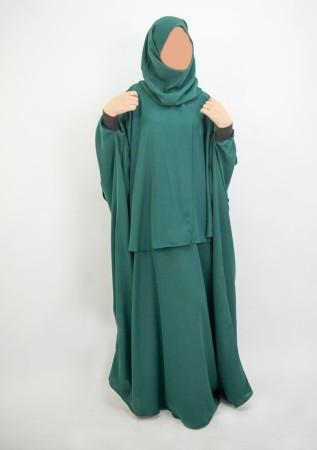 Cape avec hijab intégré NOIR