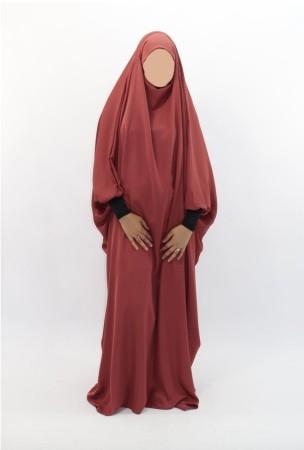 Jilbab Saoudien NIDHA Bandeau + poignets lycra