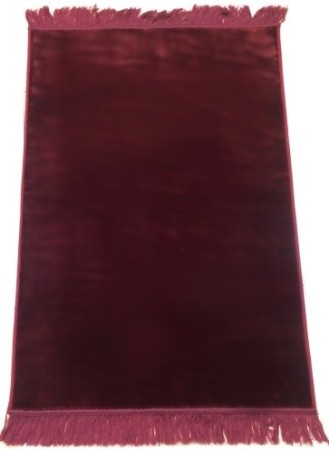Tapis Uni de luxe Grand Confort Bordeaux
