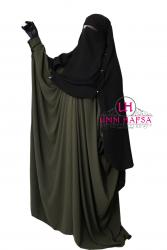 Niqab/sitar casquette à clips 1m60