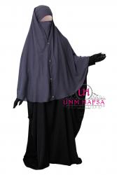 Niqab 2 pièces à clips 1m25