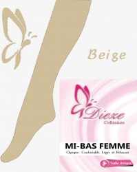 Mi-bas BEIGE Dieze Collection