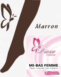 Mi-bas MARRON Dieze Collection