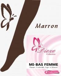 Mi-bas MARRON Dieze Collection