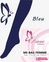Mi-bas BLEU NUIT Dieze Collection