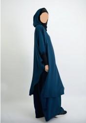 Tunique Young : Hijab et capuche intégrés NOIR