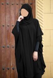 Ensemble Abaya Khaleej + long khimar hijab intégré