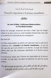 Conseils et Fatwas Spécifiques à la Femme Musulmane