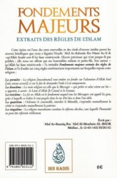Fondements Majeurs Extraits Des Règles De L'Islam - Cheikh Abd Ar-Rahmâne Ibn Nâsser As-Sa'di