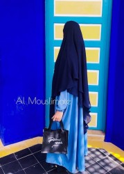 Khimar Flowy 2 Voiles Mousseline - Al Mouslimate Dar al Iman