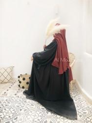 Abaya Russia Whool Peach - Dar al Iman