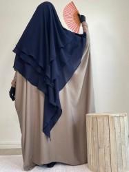 Khimar 3 voiles Mousseline Dar Al Iman