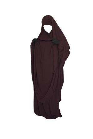 "Jilbab de portage/allaitement ""As Salafiyat"" PRUNE"