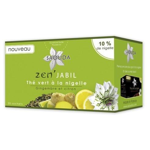 Thé vert à la nigelle