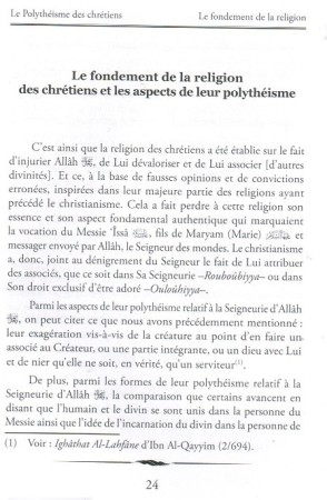 Le Polythéisme des Chrétiens (FR-AR avec harakat)