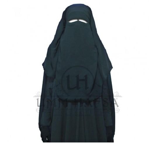 """Niqab/Sitar """"Umm Hafsa"""" 1m50 3 voiles NOIR"""