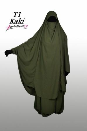 Jilbab as-Salafiyat 2 Pièces X-Tra large KAKI