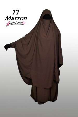 Jilbab as-Salafiyat 2 Pièces X-Tra large MARRON