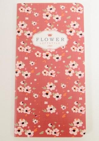 "Carnet ""Flower"" Burgundy"